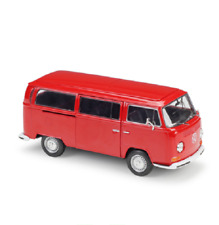 Welly 1:24 1972 Volkswagen Bus T2 Red Diecast Model Car Vehicle New in Box