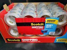 Scotch 3m Clear Heavy Duty Shipping Packaging Tape 16 Rolls 874 Yd Bulk Lot