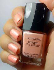 CoverGirl Outlast Stay Brilliant Nail Gloss Polish TOTALLY TULIP Light Peach .37