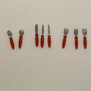 Vintage Kitchen Little Silverware-Red