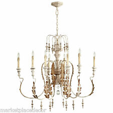 French Country Chateau Motivo Chandelier 8 Light Acanthus Leaf 05051 Cyan Design
