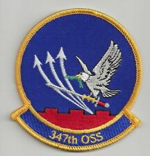PATCH USAF 347TH OSS OPERATIONS SUPPORT SQ                                 J