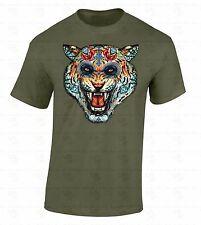 Sugar Skull Tiger T-SHIRT Day Of Dead Animal Face Dia De Los Muertos Evil Shirt