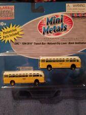 GMC TRANSIT BUS Blank destination N SCALE  mini metals cmw. 1:160