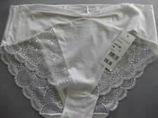 SIMONE PERELE MARILYN Sz 18 Aust / 5 Int'l Full Back Bikini Brief WHITE Rrp $60