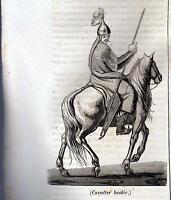 CAVALIER BASKIR XILOGRAFIA PRIMA META' '800 (1835 ?)  TRATTA DA LA MOSAIQUE