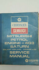 Chrysler Mitsubishi Petrol Engine - 4G3 Saturn Lancer Galant Service Manual