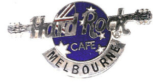 HARD ROCK CAFE ~ MELBOURNE ~ SILVER BROACH PIN ~ RARE & WORLWIDE COLLECTABLE