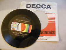 the WELLINGTON ARRANGEMENT look on your face / let the good times in DECCA    45