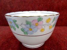 J H COPE/ WELLINGTON CHINA Pink/Blue/Yellow Floral SUGAR BOWL c1941 FREE UK POST