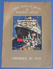 ROYAL MAIL LINE ART DECO KENNETH DENTON SHOESMITH RARE AGENTS PRINT C-1920'S