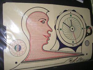 Welmon Sharlhorne   Outsider Folk Art  drawing  signed- Woman Face