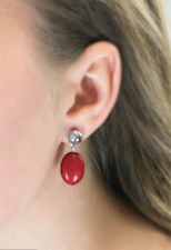 """Red Earrings Htf New Paparazzi """"Stone Cliffs"""""""