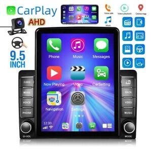 "Carplay Car Stereo Radio 9.5"" 2 Din Mirror Link FM Touch Screen + AHD Camera"
