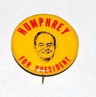 1968 HUBERT HUMPHREY HHH campaign pin pinback button political presidential