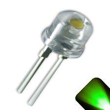 5 x LED 8mm Pure Green .5 Watt Wide Angle Bright High Power LEDs 0.5w half 1/2