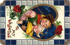 """Tucks Post Card-""""Little Lovers"""" Valentine Series No 104  from 1914"""