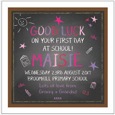 Personalised FIRST DAY AT SCHOOL card Any message Any names