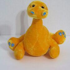 BJ Toy Co Orange Dinosaur Nessie Plush Stuffed Animal 9 inches
