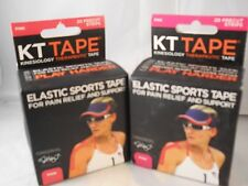 Kinesiology Therapeutic KT Elastic Sports Tape Pink, 20 strips each (2pks)