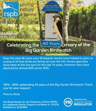 RSPB Pin Badge | Big Garden Birdwatch Celebrating 40 years | [01400]