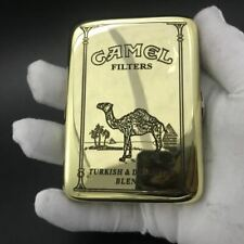 Hold 16 Cigarette Vintage Copper Camel Cigarette Case Smoking Boxes With Box