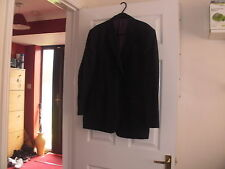 Mens GREY pinstripe suit by RACING GREEN jacket 44 short, trousers W38 short L28