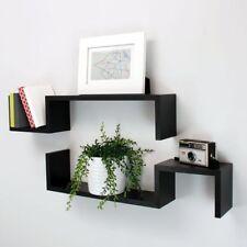 Floating Wall Mountable  2 set  S shaped Shelf ornamental display shelves