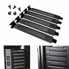 5x PCI Slot Cover Dust Proof Filter Blanking Plate Hard Steel Black with Screws