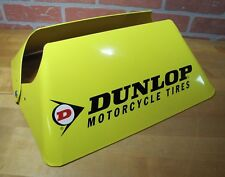 Orig DUNLOP MOTORCYCLE TIRES Store Display Advertising Metal Double Sided Sign