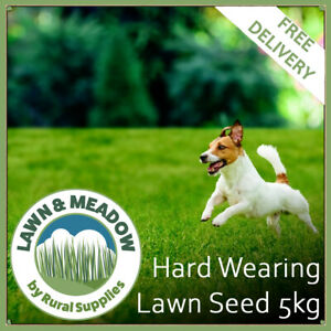 5KG Grass Seed for Garden Lawns - Hard Wearing  - FAST GROWING & MULTI-PURPOSE