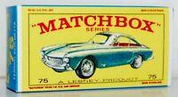 Matchbox Lesney No 75 FERRARI BERLINETTA  GREEN empty Repro style E Box