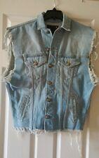 R13 Oversized Trucker Denim Vest, Boyfriend Style, Distressed $495, M, NEW!