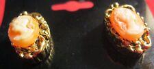 Post Pink O24-14 Earrings Cameo
