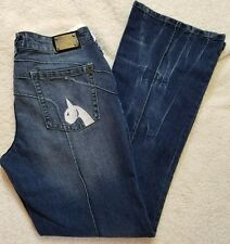 Baby Phat Blue Jean Denim Jeans w/Cat Logo back Pocket Women's Size 11 New