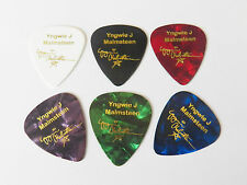 Yngwie Malmsteen Printed Gold signature plectrum guitar pick full set 6x picks