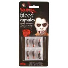 Fake Blood Capsules Artificial Capsule Vampire Costume Halloween Zombie Stage