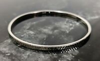 Lovely Vintage Silver Tone Delicate Trifari Jewellery Bangle Bracelet
