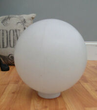 Ball Round Shade for Outdoor Light Fixture 12 inch Diameter Round White Plastic