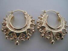 Victorian hoop earrings 9 carat yellow gold medium