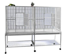 """Large 64"""" Double Flight Breeding Canary Aviaries Bird Cage With Center Divider"""