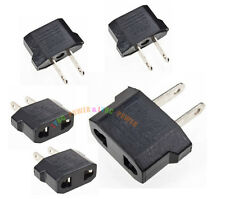 5pcs US USA to EU European Euro Travel Charger Adapter Plug Outlet Converter