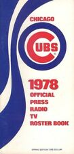 1978 Chicago Cubs Official Roster Book Press TV Radio Media Guide VG+ or Better
