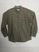 Men's Orvis Multi-Color Plaid Long Sleeve Shirt Medium 100% Cotton.