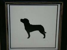Mary Carol Home Mastiff Dog Silhouette Framed Print Black White