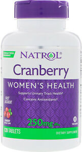 Fast Dissolve Cranberry by Natrol, 120 tablet 250 mg 1 pack