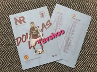 Aston Villa v Manchester United 2020 LIMITED Programme 8/7/20!READY TO DISPATCH!