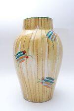 Striking Mid Century Vintage Scarab Beetle Italian Art Pottery Vase