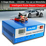 LCD 12V 24V Car Battery Charger  Intelligent Automobile Motorcycle Pulse Repair
