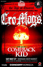 """CRO-MAGS """"AGE OF QUARREL 30TH ANNIV CANADIAN TOUR"""" 2017 CALGARY CONCERT POSTER"""